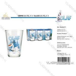 Glas Glas Kinderoval (3 Stück) SUN CITY OLA101577