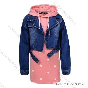 Set Jeansjacke und Junior-Kleider für Mädchen und Teenager (110-160) GLO-STORY GLT-7495