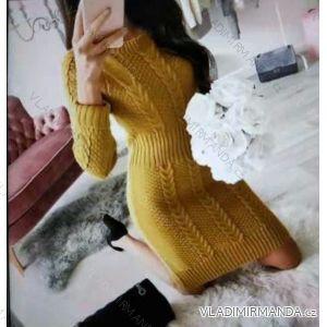 Kleid Pullover Langarm Damen (uni sl) ITALIENISCHE Mode IM2188150