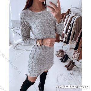 Kleid / Pullover gestrickte lange Ärmel (uni sl) ITALIENISCHE Mode IM41805120