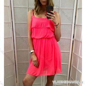 Sommerkleid für Damen Schultergurte (uni sl) ITALIENISCHER MODUS IM417188