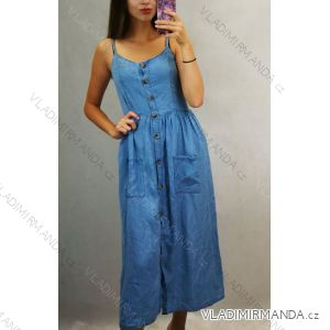 Sommerkleider auf Damenbügeln mit Knöpfen (uni s / m) ITALIENISCHER MODUS IM719580
