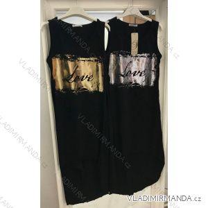 Sommerkleid auf breiten Schultergurten Frauen (uni s / m) italienische Mode IMC191786