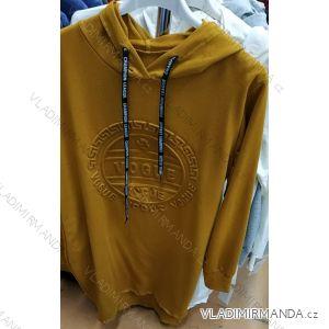 Sweatshirt mit dünner Kapuze (uni sl) ITALIAN Fashion IM419067