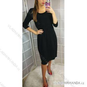 Kleid Frauen elegant (uni m-xl) ITALIENISCHE Mode IM318895