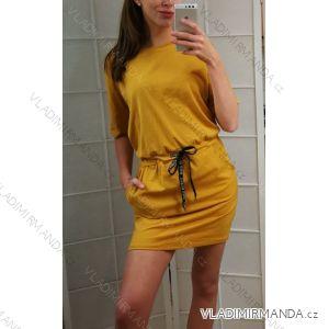 Kleid mit 3/4 Ärmeltasche für Damen (uni sl) ITALIAN Fashion IM3181746