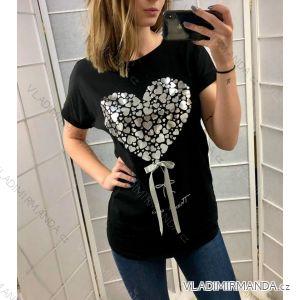 T-Shirt Tunika lange Ärmel Damen (uni xl-3xl) ITALIENISCHE Mode IM419033