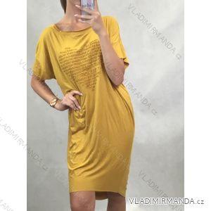Kleid übergroße Kurzarm Frauen (uni ml) ITALIENISCHER MODUS IM519424