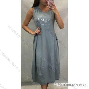 Sommerkleider für Frauen mit breiten Kleiderbügeln manchmal (uni s / m) ITALIENISCHER MODUS IM119428