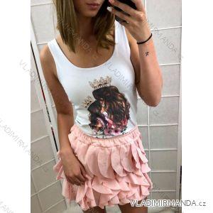 Sommer T-Shirt Damen (uni sl) ITALIENISCHE Mode IM2181290