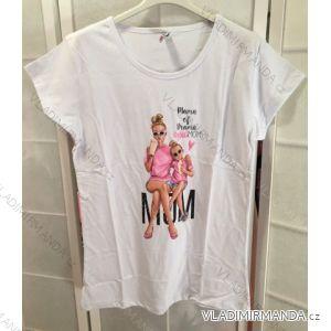 Kurzarm T-Shirt Mama Baby Mädchen (M-XL) POLNISCH MODA IM1019060