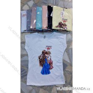 Kurzarm T-Shirt Damen Mom Baby Girl (sl) Türkische Mode IMT19455