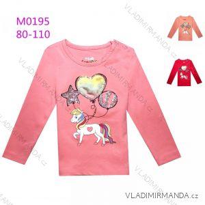 T-Shirt Langarm mit Pailletten Kinder Jugendliche Mädchen (116-146) KUGO B3258