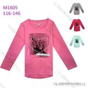 T-Shirt Langarm mit Pailletten Baby Mädchen (116-146) KUGO K9836