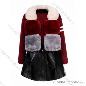Kunstlederjacke und Kleider für Mädchen und Mädchen (110-160) GLO-STORY GLT-7496