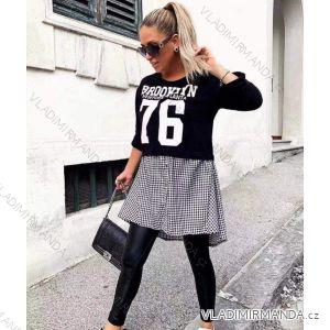 Langarm-Kapuzenpullover Damen (uni sl) Italienische Mode IM319959