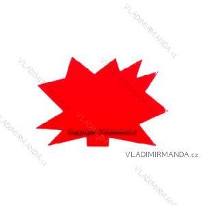 'Igel'-Tags 120x88 rot, 100 Stück / Paket.